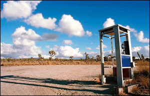 The late, great Mojave Desert Phone Booth