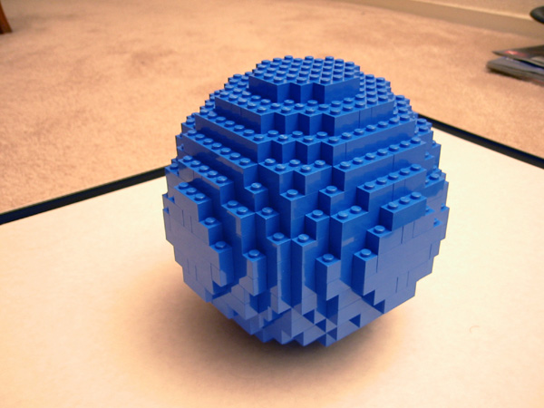 how to build a sphere with lego